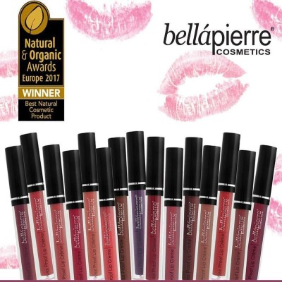Bellapiere cosmetics kiss proof lipcreme